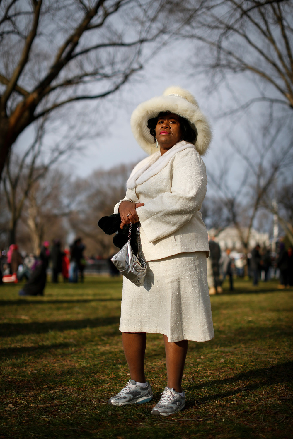 "Katie Chandler, from Jackson Mississippi, came to the National Mall to see President Barack Obama speak at his ceremonial swearing-in at the U.S. Capitol during the 57th Presidential Inauguration in Washington, Jan. 21, 2013. ""I am here to see my president,"" said Chandler. ""He is going to do things that no other president can."" The city of Washington, D.C., estimated around 1 million people attended which was about 55 percent of the 1.8 million estimated people who packed the Mall last time to watch Obama get sworn in for his first term."