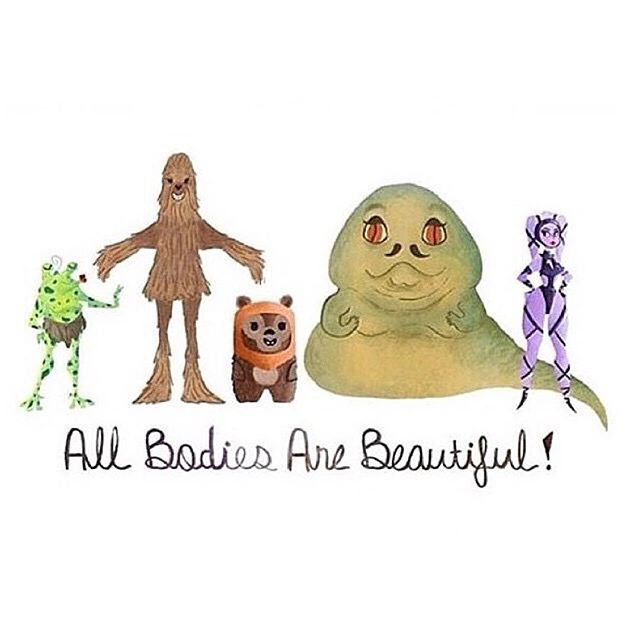 May the Fourth be with you! #healthateverysize #haes #healthyateverysize #loveyourbody #effyourbeautystandards #beautyredefined #bodyloveforall #bodylove4all #riotsnotdiets #happyishealthy #nodiet #bodypositive #bodypositivity #effyourhealthstandards #losehatenotweight #bodylove #allbodiesaregoodbodies #bodyimagemovement #bodyimage #selflove #youarebeautiful #radicalbodylove #stopbodyshaming #sizedoesntmatter #honormybody #honormycurves #celebratemysize #dontaimtoshame #maythefourth