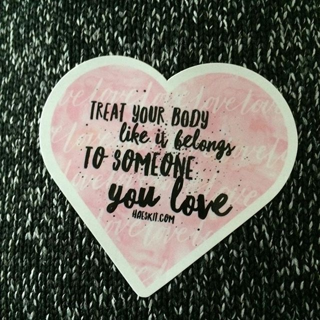 Newest sticker for the #haeskit! What do you think? #loveyourbody