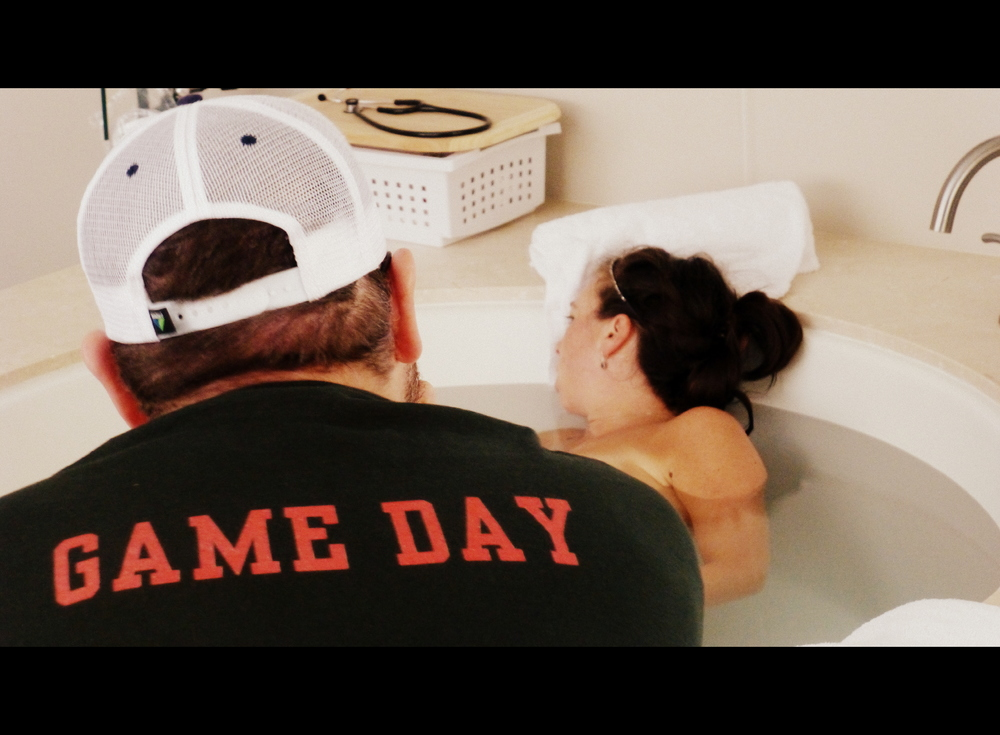 waterbirth water birth center midwives natural childbirth salt lake city utah game day dad father