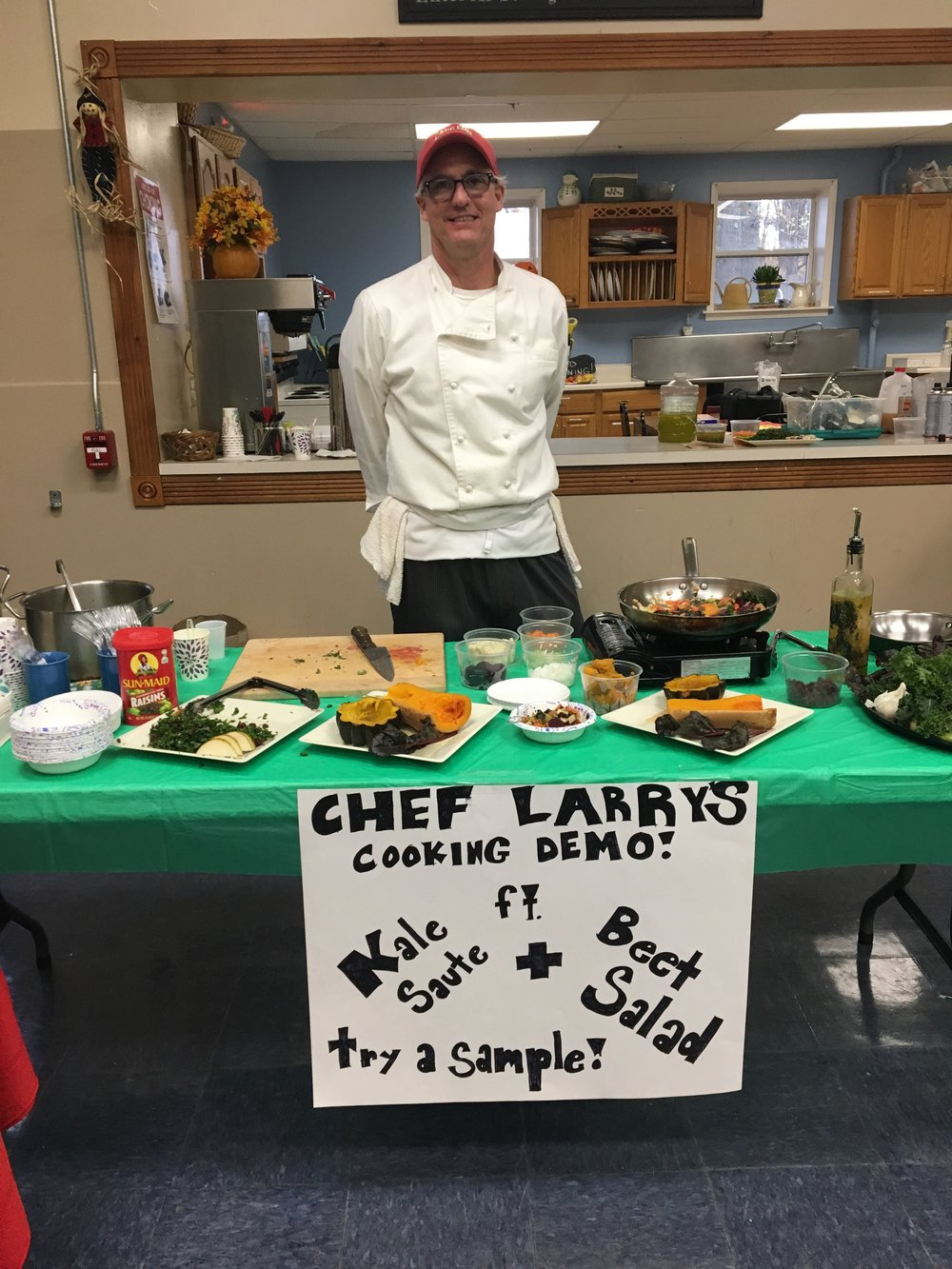 Chef Larry did some great cooking demonstrations for everyone!