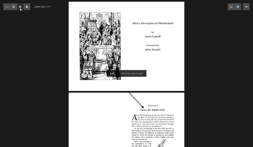 The image viewer was also designed to open and view PDF's, although this functionality never ended up being built on Windows.