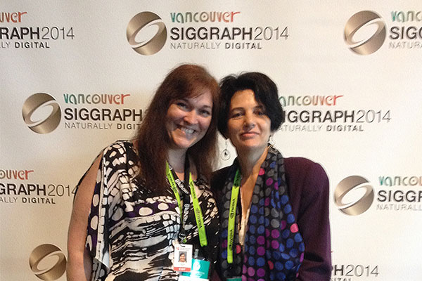 Deborah Gillam and myself at Siggraph