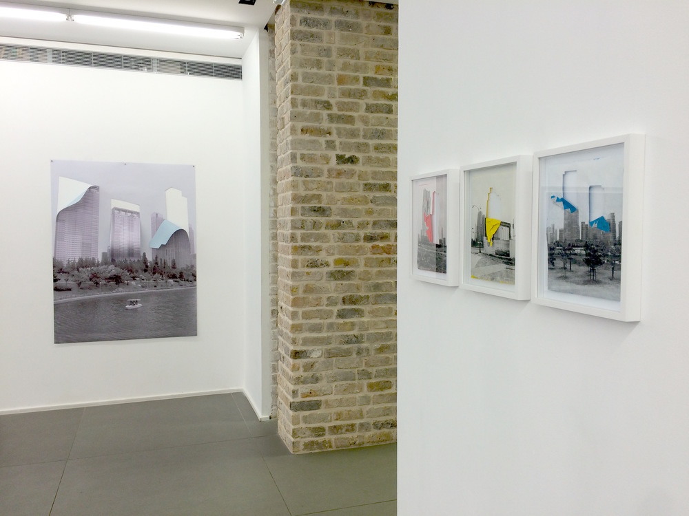Diana Artus,   Drop out buildings  , 2015, Installation view