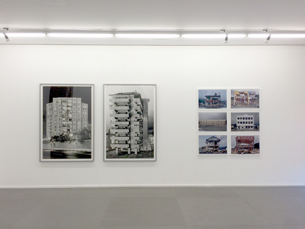 Installation view, works by Eli Singalovski and Hirohito Nomoto