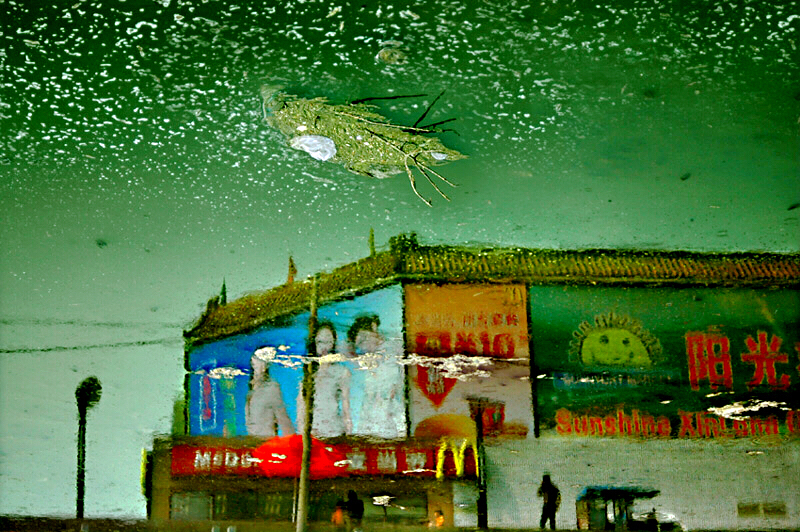 Han Bing, Plaza of Dionysus Bridge, from the series Urban Amber, Archival Pigment Print, 2005, 60 x 90 cm