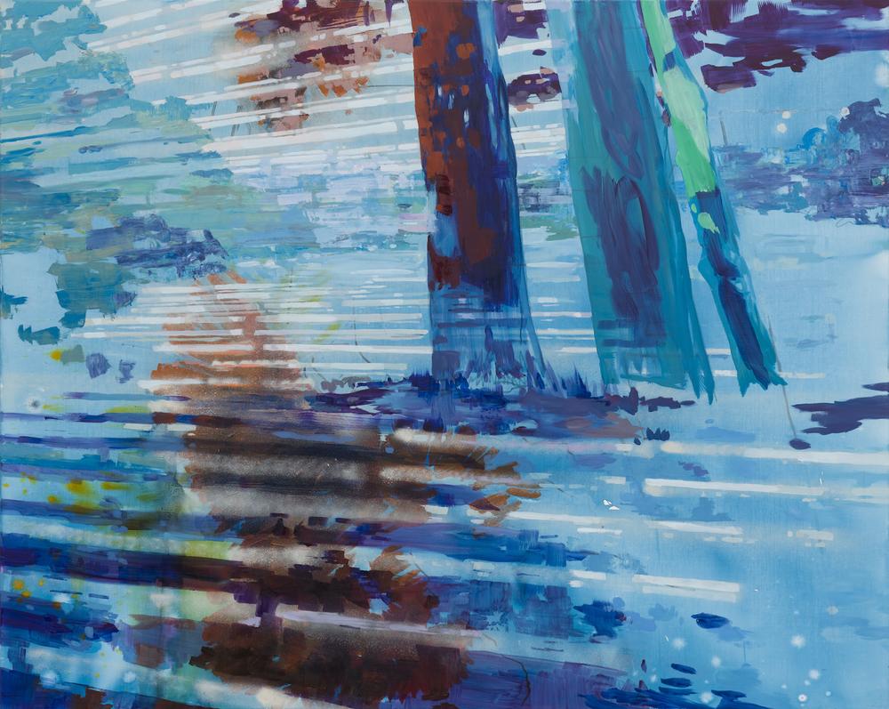 Michelle Jezierski, Splice, Mixed media on canvas, 140 x 170 cm, 2015 / Photo © Marcus Schneider