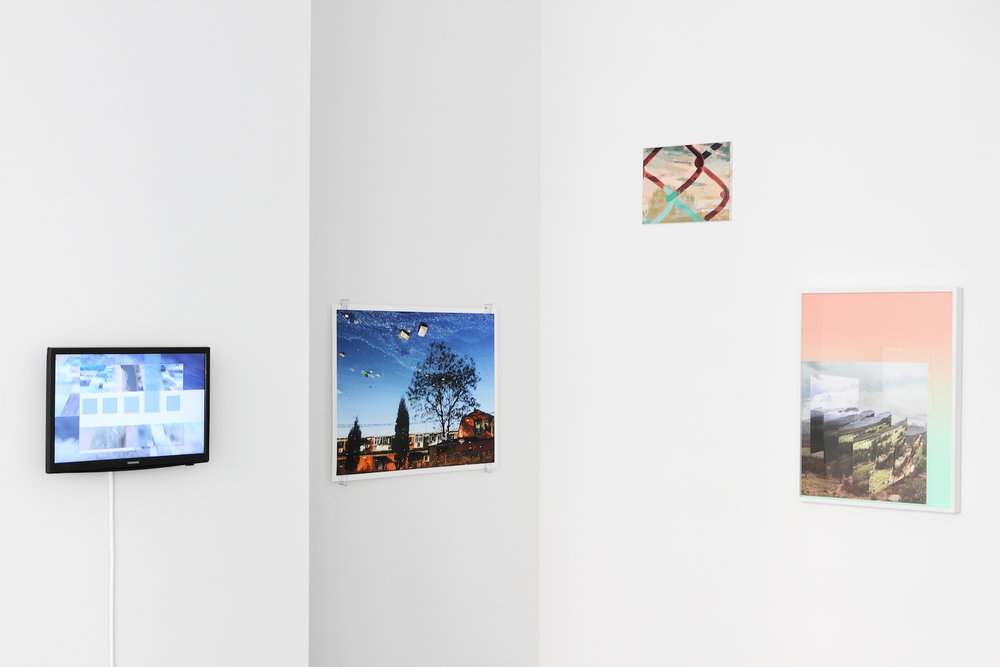artworks (LTR) by: Joe Hamilton, Han Bing, Michelle Jezierski, Mark Dorf