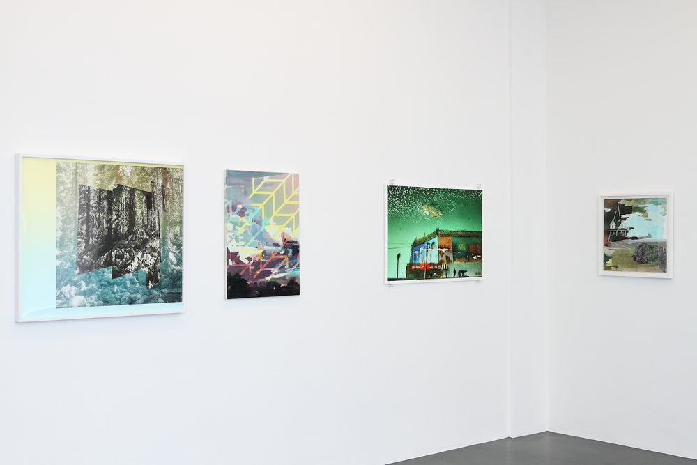 artworks (LTR) by: Mark Dorf, Michelle Jezierski, Han Bing, Michelle Jezierski