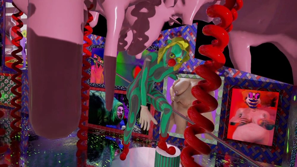 Geoffrey Lillemon (FR), The Nail Polish Inferno @ La Vilette, Virtual Reality Retrospective Strip Club Nightmare set in Bubblegum Hell, 2016