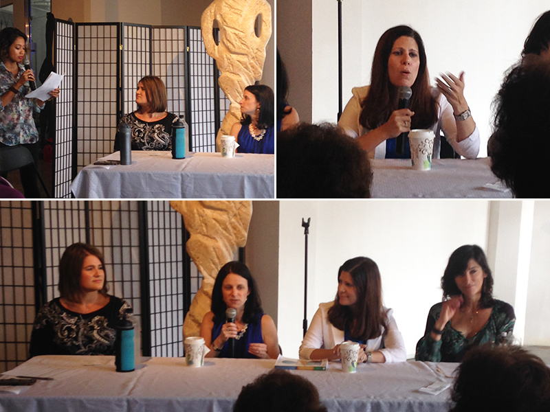 Bottom image from left: Melissa O'Brien, Dr. Arielle Levitan, Dr. Romy Block, and Dr. Dena Mendes