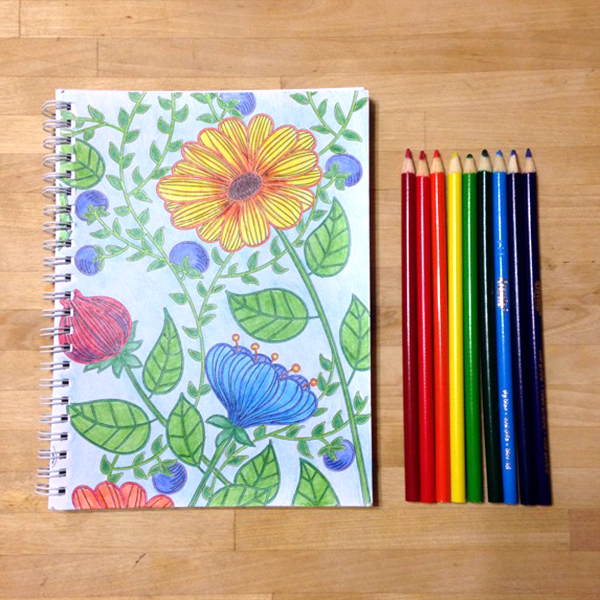 I just started a coloring journal, and it's surprisingly relaxing.
