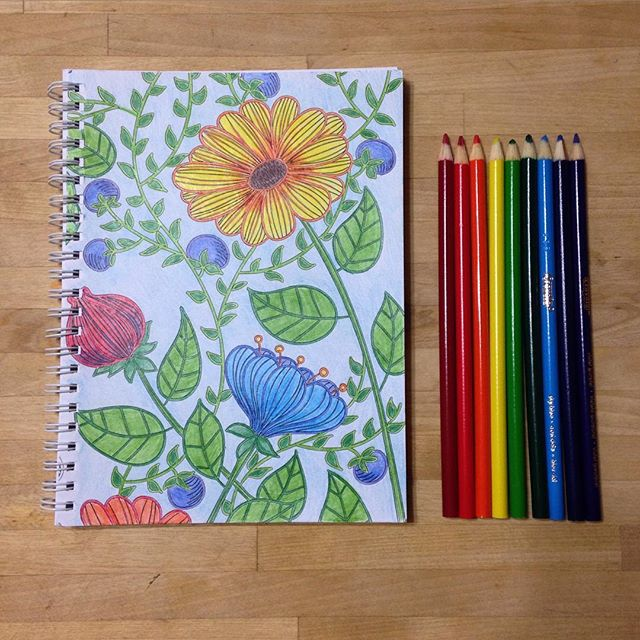I finally gave in and tried an adult coloring book. (Thanks to my sister @deckervirginia for buying me this coloring journal!) I have to admit it's both relaxing and fun. I'm sold.  In light of Mental Health Month (which we're celebrating on the blog) I'm curious to know:  What do you do to calm your mind and restore your mental balance? #mentalhealthmonth #mentalhealthawareness #adultcoloringbook #destressing