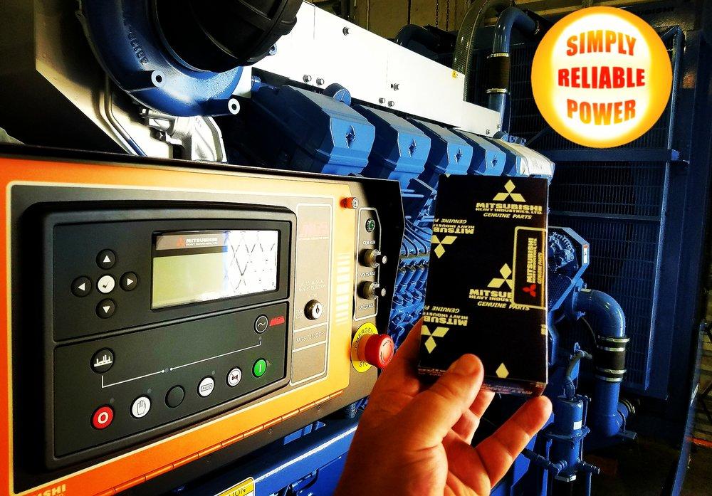 Mitsubishi Generator and Control Panel