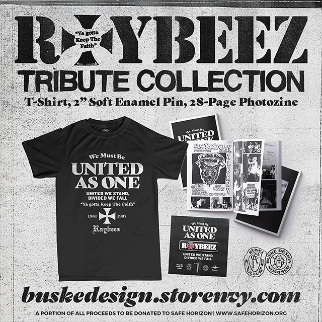 """Some new items added in honor and memory of Raymond """"Raybeez"""" Barbieri. Thank you for the influence your words and actions left on me and so many other people dedicated to and involved in the Hardcore/Punk culture. A portion of all proceeds to be donated to Safe Horizon. Thanks for looking."""