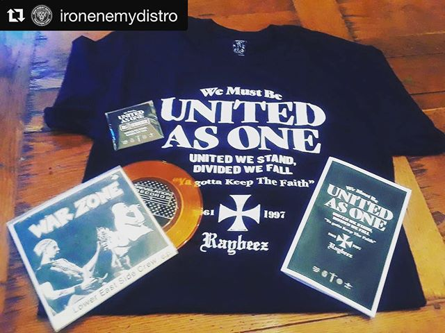 Look how dope that orange Warzone EP looks snugged up on the Raybeez tribute. Thanks for the support and posting @ironenemydistro.