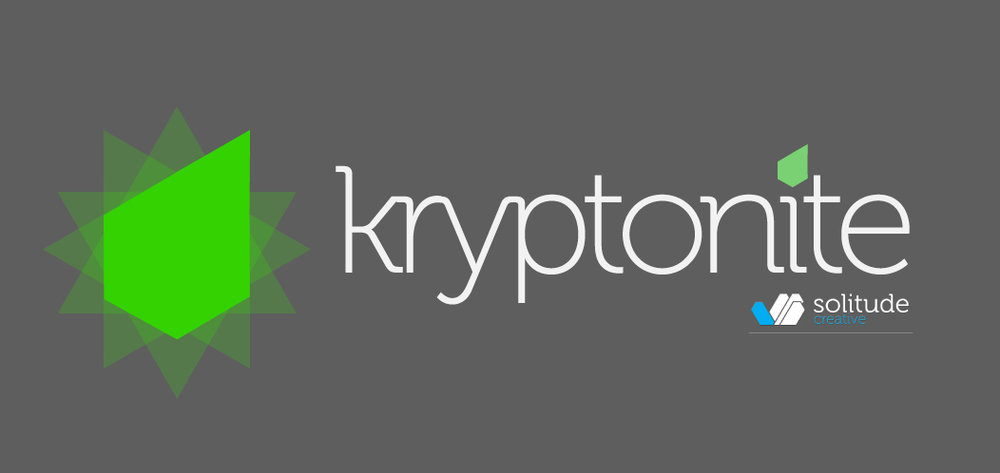 Kryptonite CMS Logo  Logo design for Kryptonite, a custom CMS framework built in HTML5. // For Solitude Creative & NBC.com