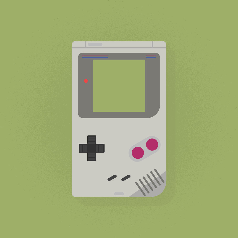 DMG-01  Game Boy Illustration exercise // For Fun