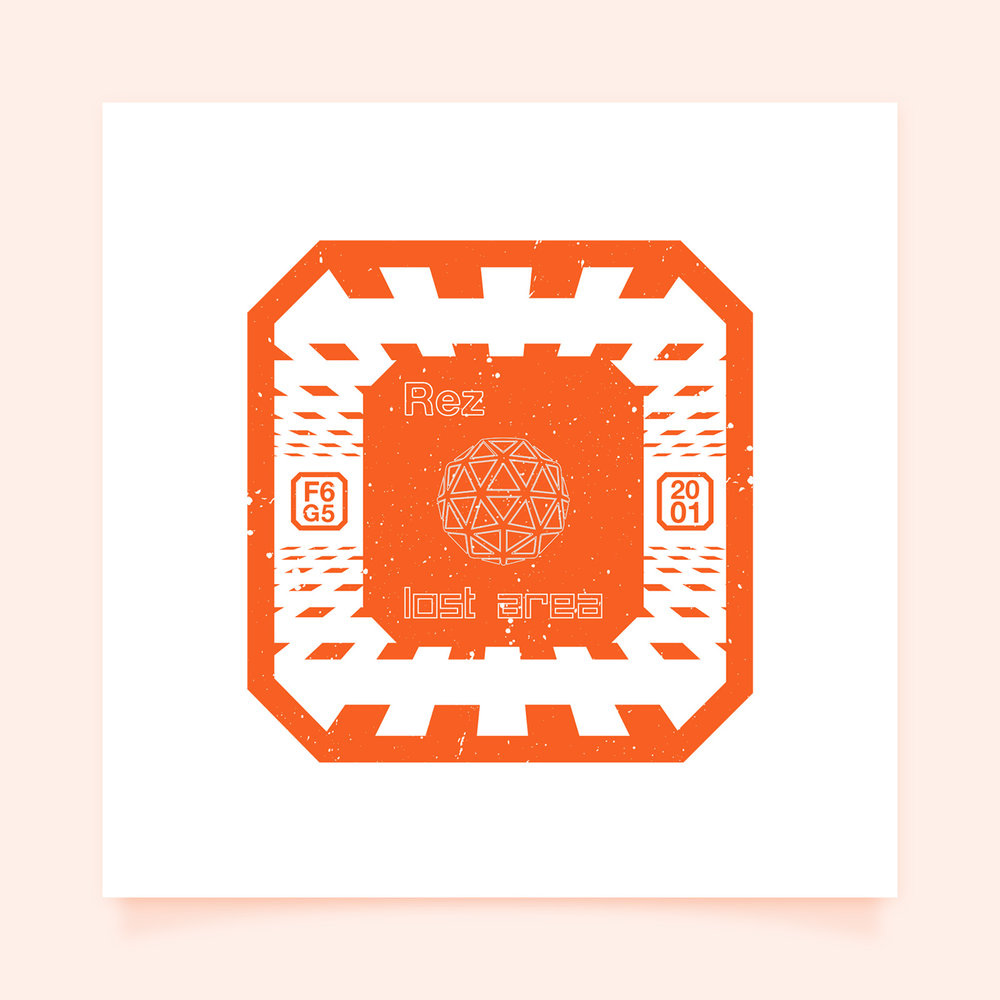 Rez - Lost Area  I was honored to be able to be a part of designer Anna Ditmer's   Pixel Passport   series of travel stamps to beloved fictional worlds. // For @pxpassport