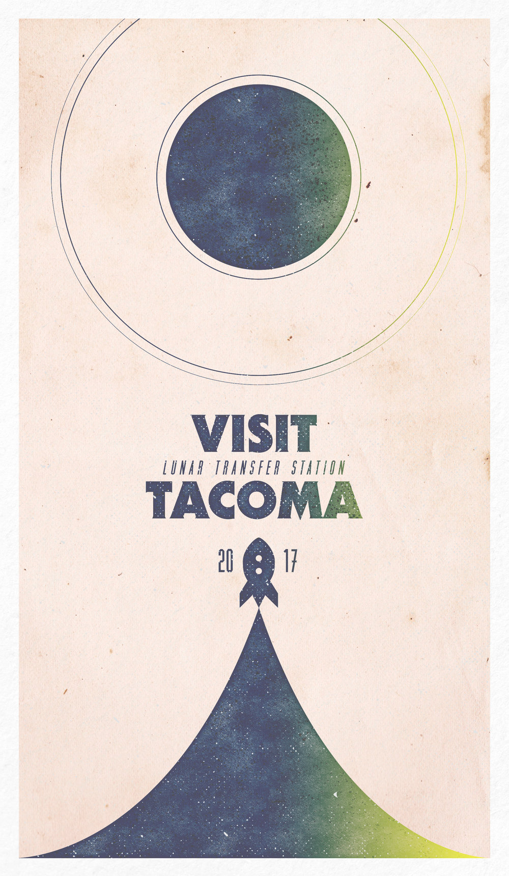 TACOMA Travel Poster  Promotional poster art for Fullbright's second game, Tacoma. // For The Fullbright Company