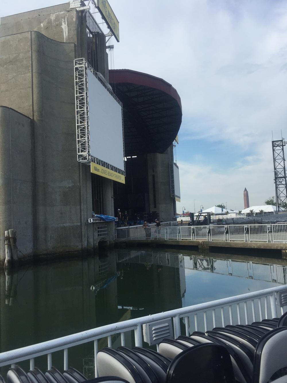 Floating venue on the ocean