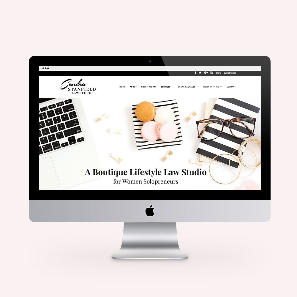 Sandra Stanfield Law Studio Brand and Website Design SEE IT IN ACTION