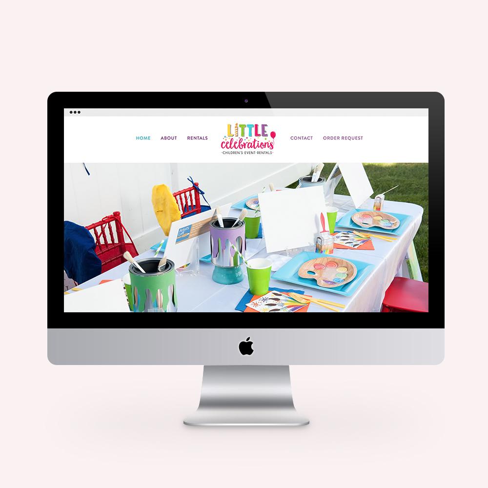 little celebrations rentals Website Design see it in action