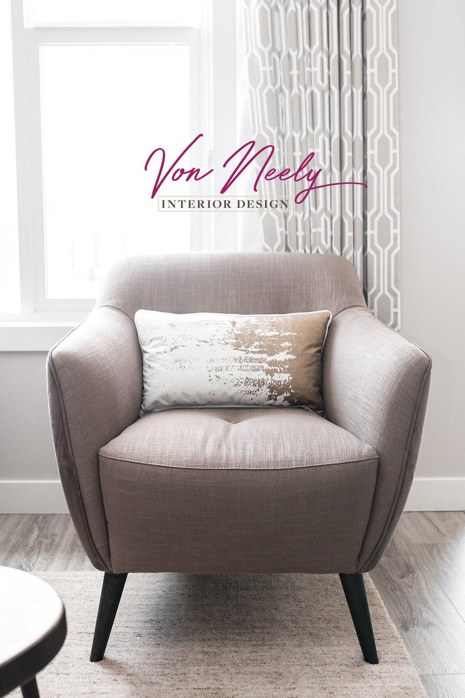 von neely interior design   brand | print