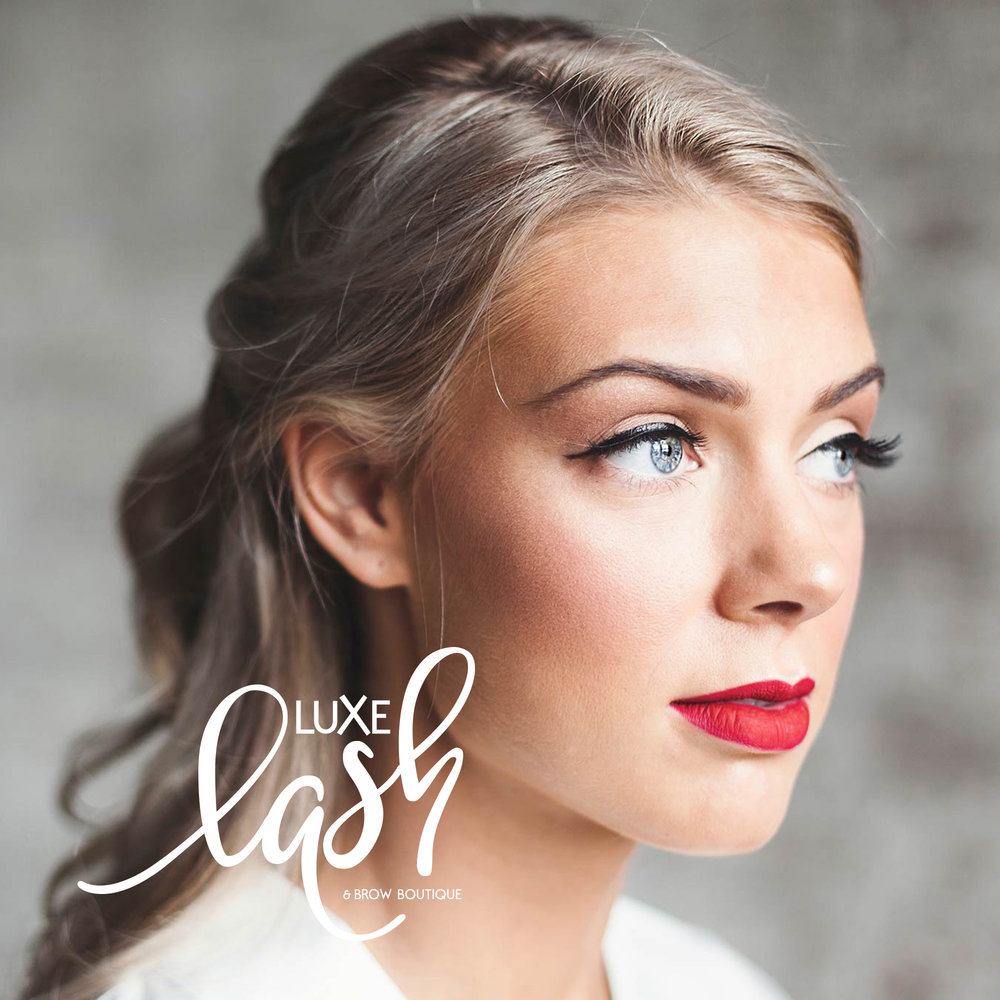luxe lash & brow boutique   brand | print