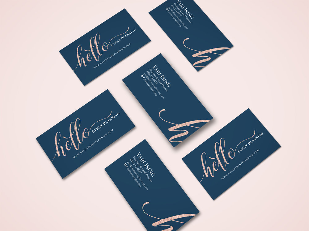 hello event planning  brand | web