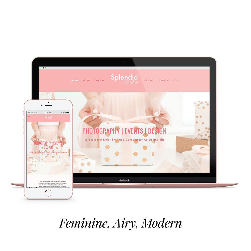 Splendid studio  styled website  $450