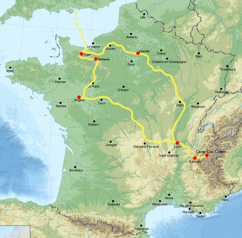 Our Route and Cities Visited