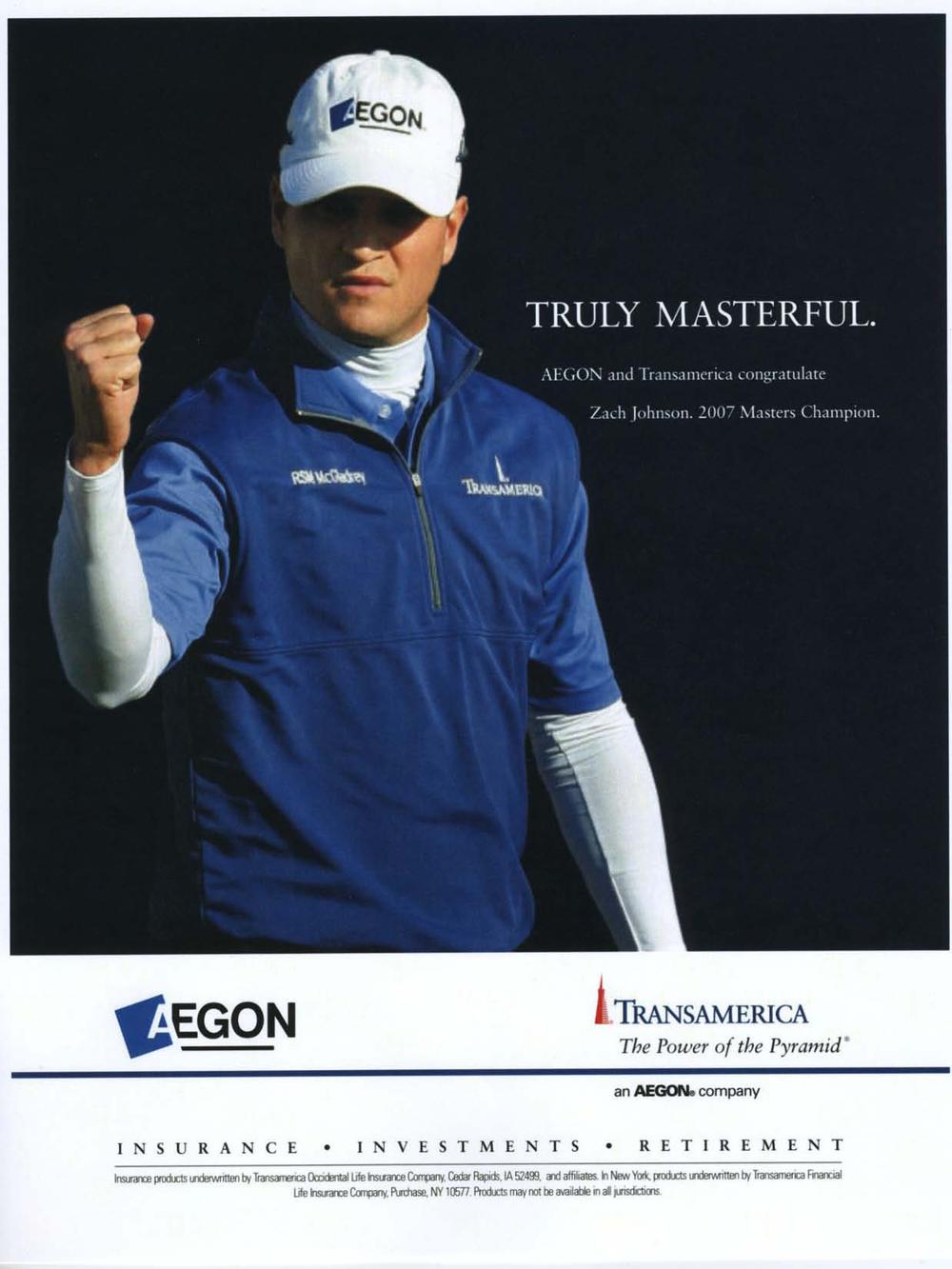 consumer ad Masters' champion zach johnson