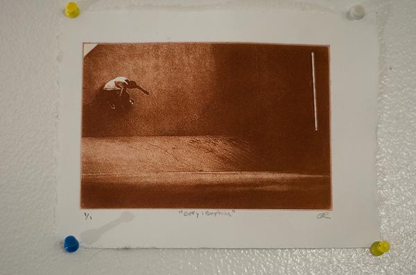 "Defy Gravity  Sunplate Print  8.5"" x 4"" Davie, Fl Oscar E Rodriguez 2010  Photo: Mike Little Photography"