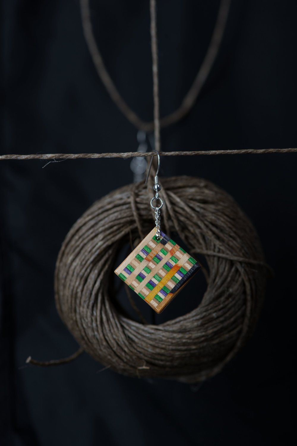 Static Square. (Earring Close-up B)   Designed @ Encompass Design  2014