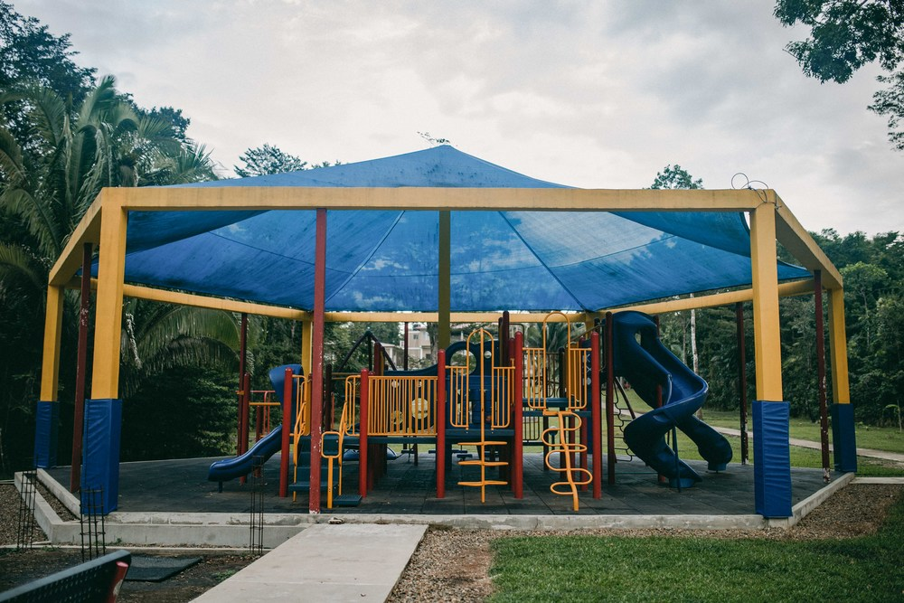 One of two large playgrounds