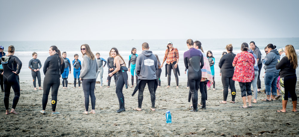 Then we circled up by the ocean for an opening ceremony and introduction game.