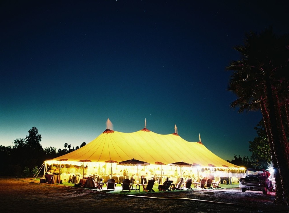 The Glow from a Tented Reception