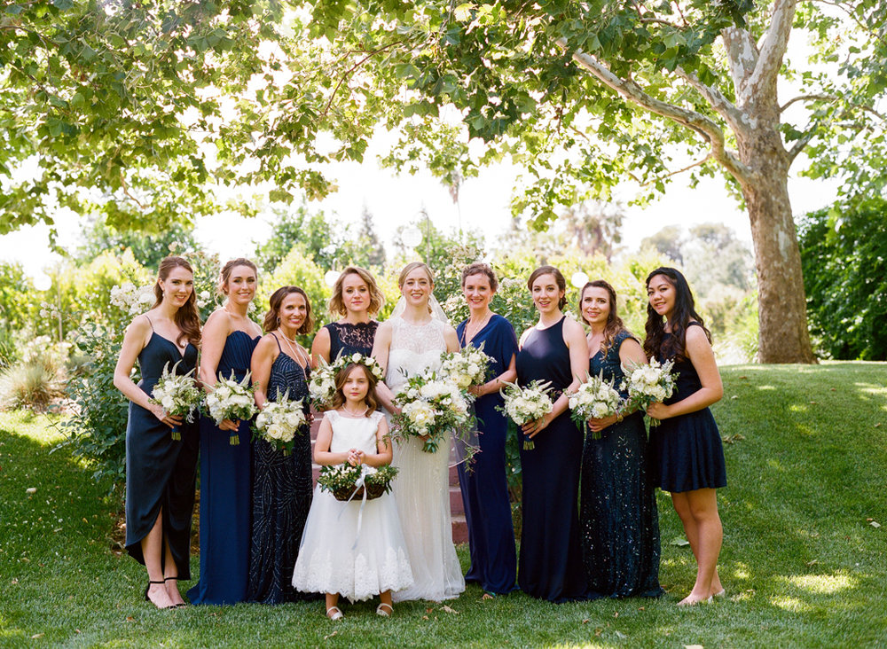 Classic Navy Blue Bridal Party