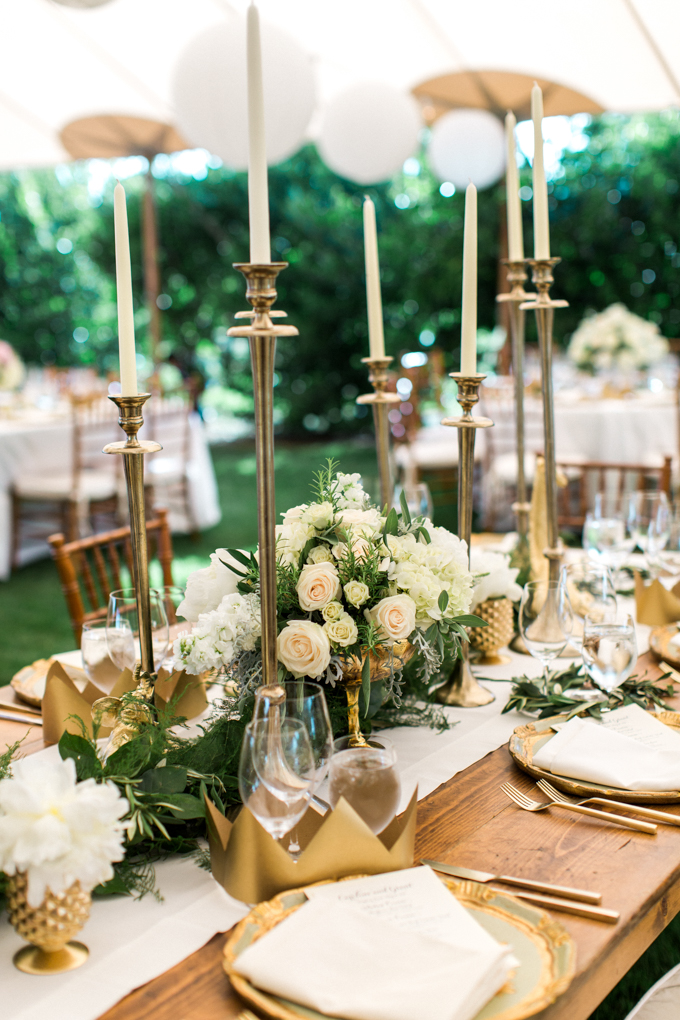 Gold & Ivory Reception Décor