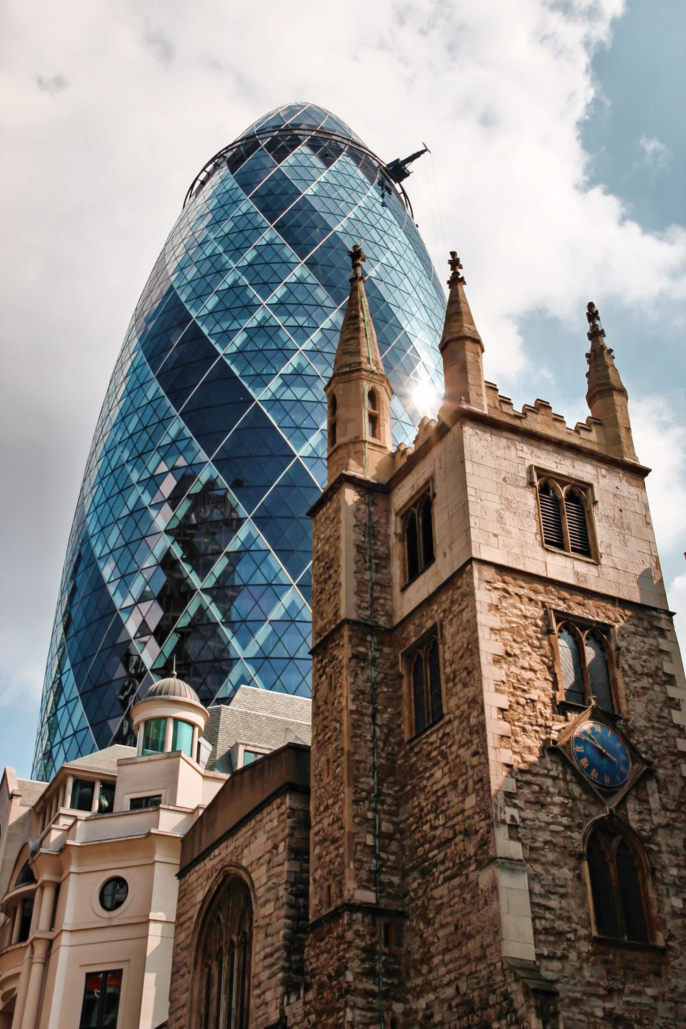 St Andrew Undershaft Church & THE GHERKIN, The CITY OF LONDON