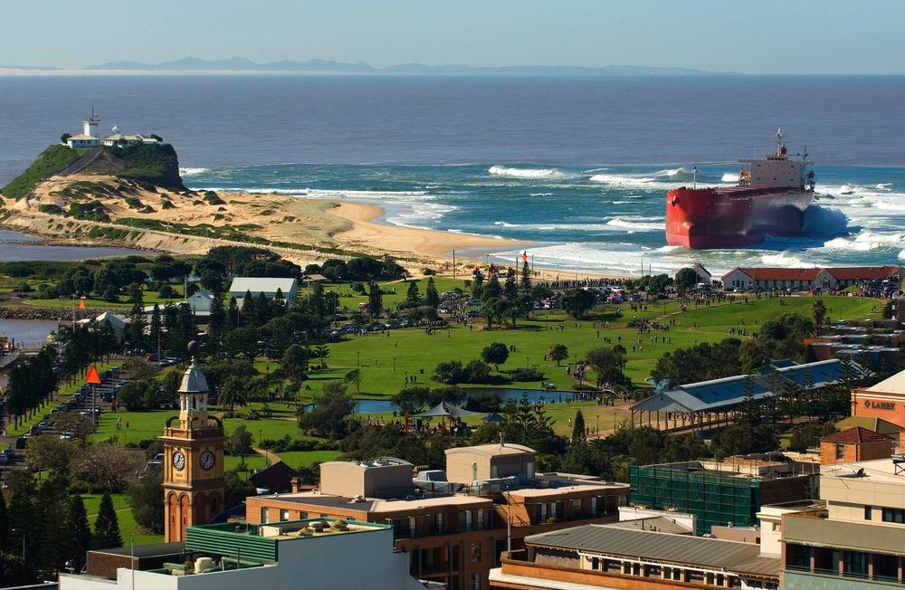 PASHA BULKER ATNOBBY's BEACH, NEWCASTLE AUSTRALIA