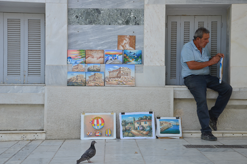 Athens artist and fan