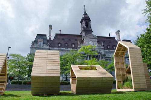 Installation Jardins M, Vieux Montréal