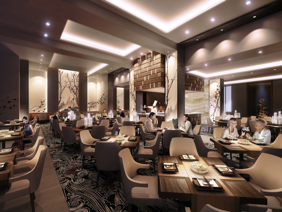 Restaurant at Harmony Village Sheppard, image courtesy of City Core Developments
