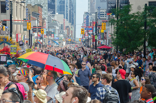 Toronto Pride Festival 2014-looking south Yonge St
