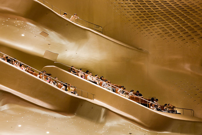 Guangzhou Opera House. Architect: Zaha Hadid Architects. Photo by Iwan Baan.