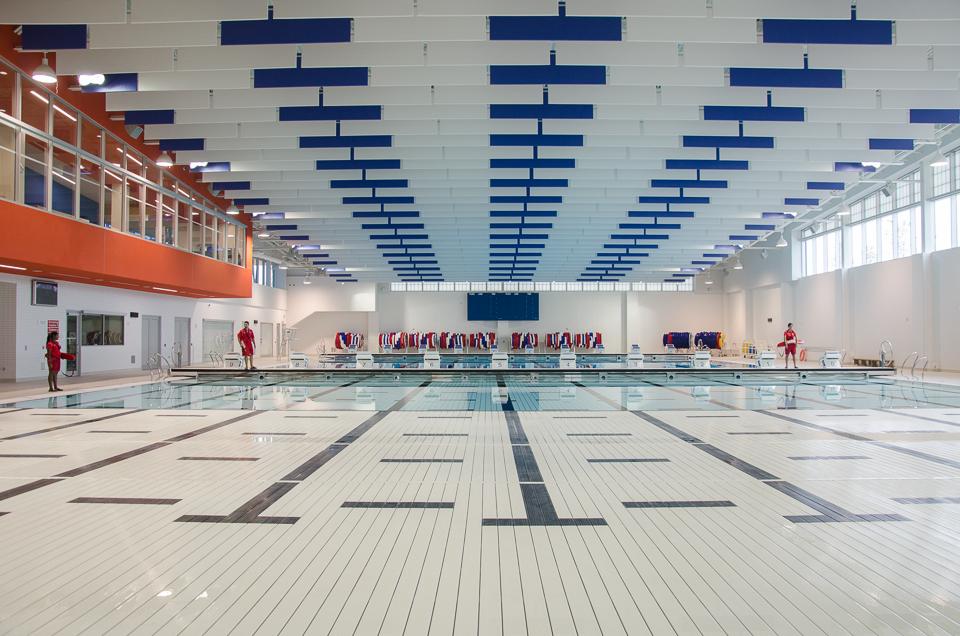Training pool at the Toronto Pan Am Sports Centre. Photo by Stephanie Calvet.