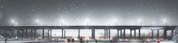 Fort York Visitor Centre winning competition drawings – South Elevation