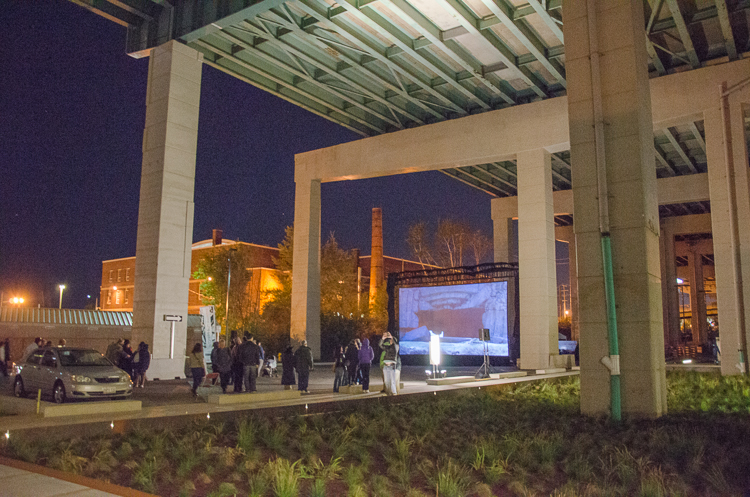 The canopy of the Expressway produces a huge, covered urban space for community events and programming. Photo by Stephanie Calvet.